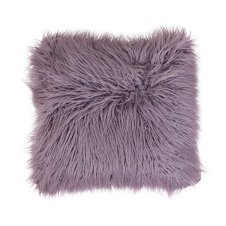 20x20 Keller Faux Mongolian Reverse to Micromink Pillow (Option: Purple)