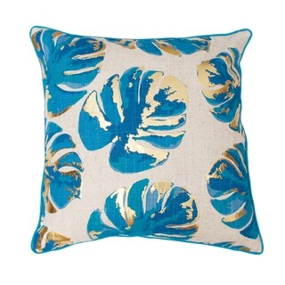 20x20 Wallace Gold Foil Printed Leaf Pillow