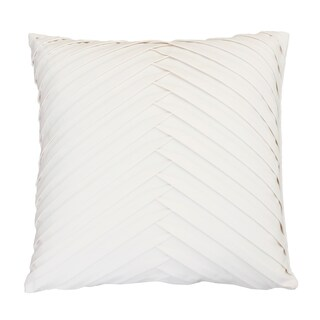 20x20 James Pleated Velvet Pillow (Option: Cream)