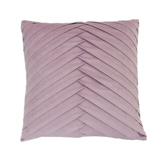 20x20 James Pleated Velvet Pillow (Option: Purple)