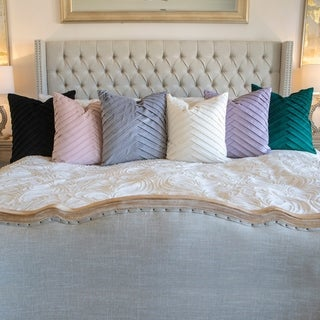 20x20 James Pleated Velvet Pillow