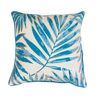 20x20 Don Remilly Gold Foild Printed Leaf Pillow