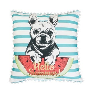 20x20 Aqua Franco French Bulldog Pillow