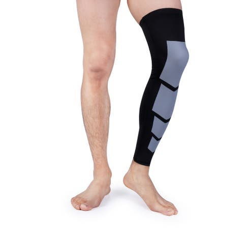Unisex Full-Length Knee and Calf Compression Sleeves (2-Pack)