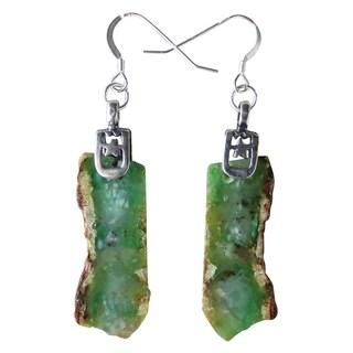 Handmade - Healing Stones for You Chrysoprase Earrings (USA)