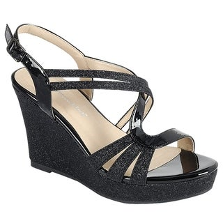 Forever Women's Glitter Strappy Wrapped Wedge Heel Platform Sandals (More options available)