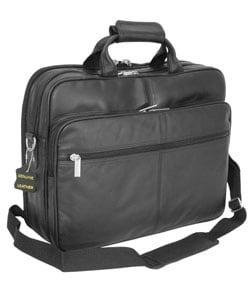 Amerileather Black Leather Softside Briefcase