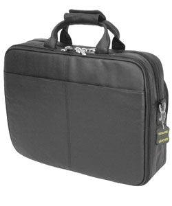 Amerileather Black Leather Softside Briefcase - Thumbnail 1