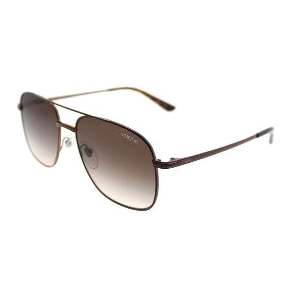c775ad2a0 Vogue Aviator VO 4083S 507413 Women Copper Light Brown Frame Brown Gradient Lens  Sunglasses