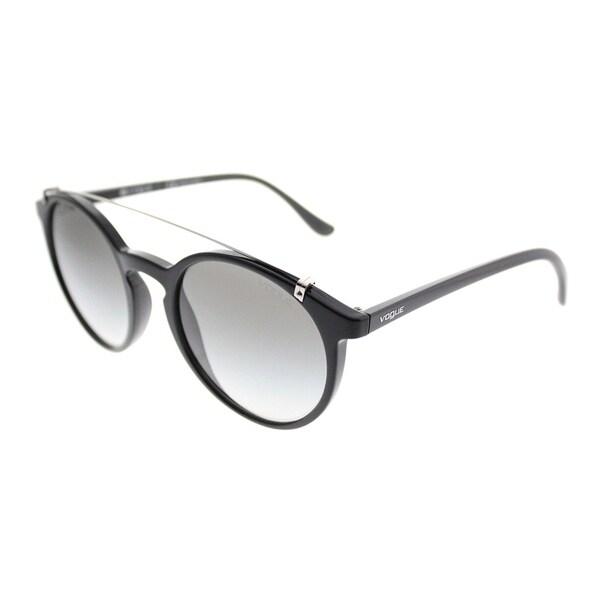 c9f58c7564 Vogue Round VO 5161S W44/11 Women Black Frame Grey Gradient Lens Sunglasses