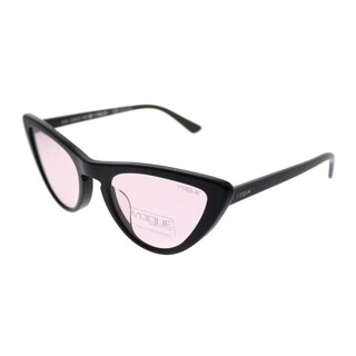 Vogue Cat-Eye VO 5211SF Vogue By Gigi Hadid Asian Fit W44/5 Women Black Frame Pink Lens Sunglasses