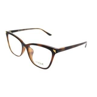Vogue Cat-Eye VO 5206F Asian Fit 2386 Women Top Havana/Light Brown Frame Eyeglasses