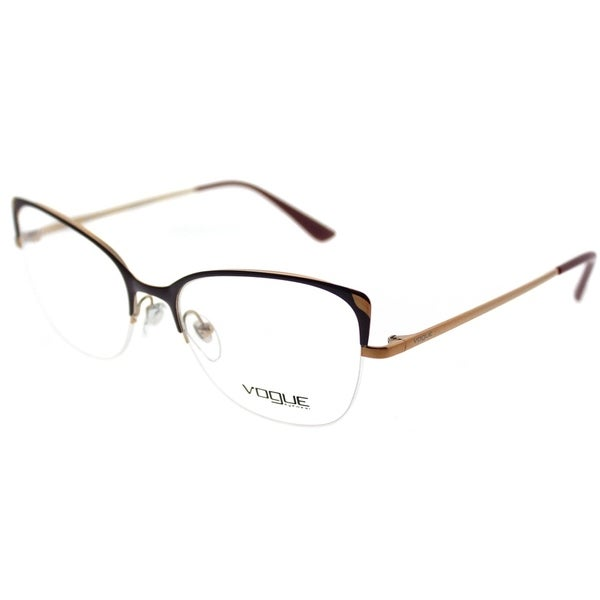 a4cf337282e Shop Vogue Cat-Eye VO 4077 5072 Women Bordeaux Frame Eyeglasses ...