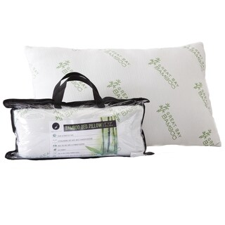 Hypoallergenic Pillow with Down Alternative Filling By Great Bay Home Brand