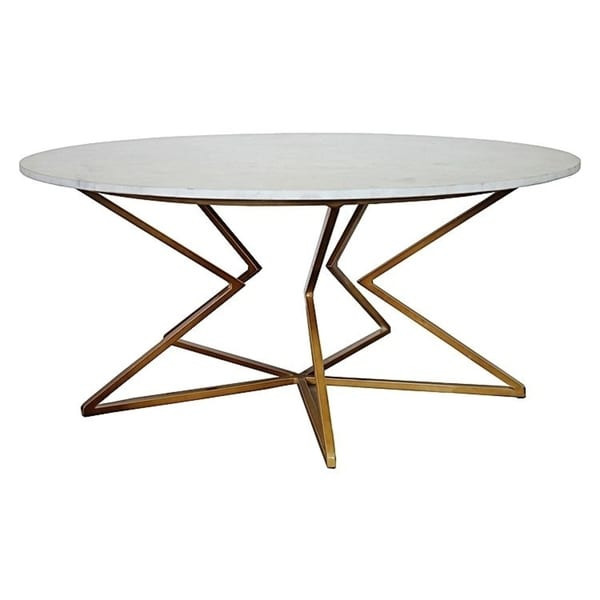 Shop Detroit Marble Top Coffe Table Gold Free Shipping Today - Detroit coffee table