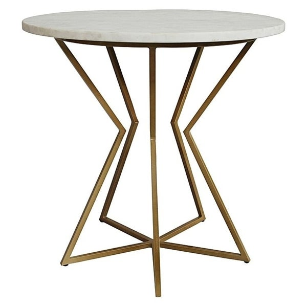 Shop Detroit Marble Top Side Table Gold Free Shipping Today - Detroit coffee table
