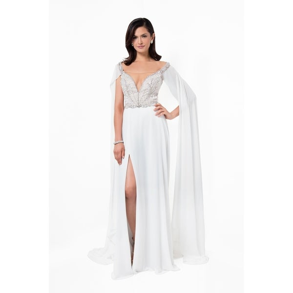 Shop Elegant Off the Should Long Prom Gown - Free Shipping Today ...