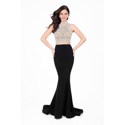 Intricately Beaded Two-Piece Prom Dress