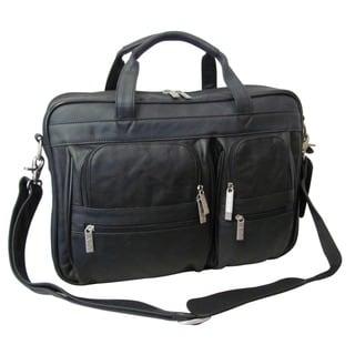 Amerileather Black Leather Business Briefcase