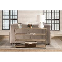 Hillsdale Furniture Crofton Brown Steel/Wood Console Table