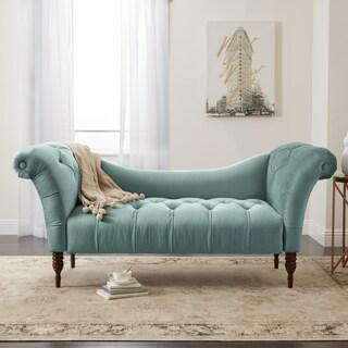 Shop Skyline Furniture Chaise Lounge In Velvet White N A