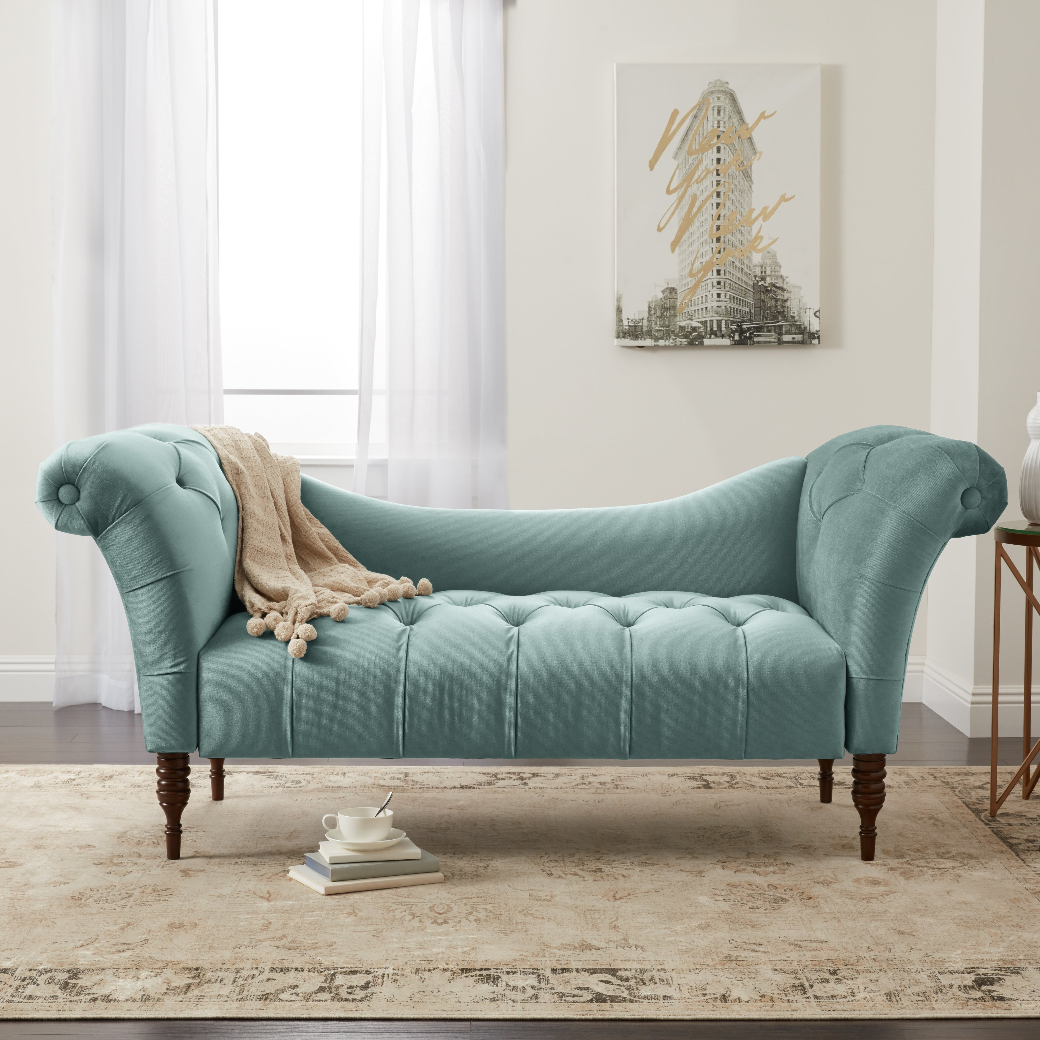- Shop Skyline Furniture Tufted Chaise Lounge In Linen - Overstock - 20012093