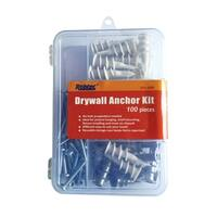 Robtec Drywall Anchor Assortment Kit (100-Pack)
