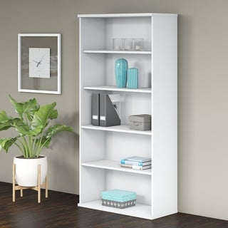 Bush Business Furniture Studio C 5 Shelf Bookcase In White