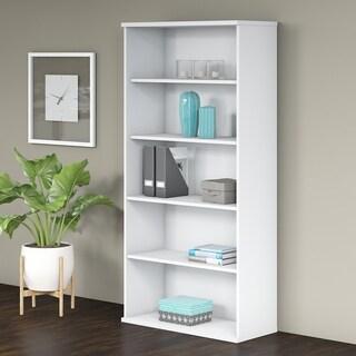 Bush Business Furniture Studio C 5 Shelf Bookcase in White