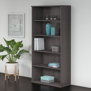 Bush Business Furniture Studio C 5 Shelf Bookcase in Storm Gray
