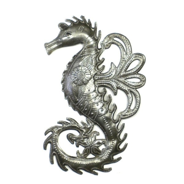 Handmade Seahorse Metal Art (Haiti)