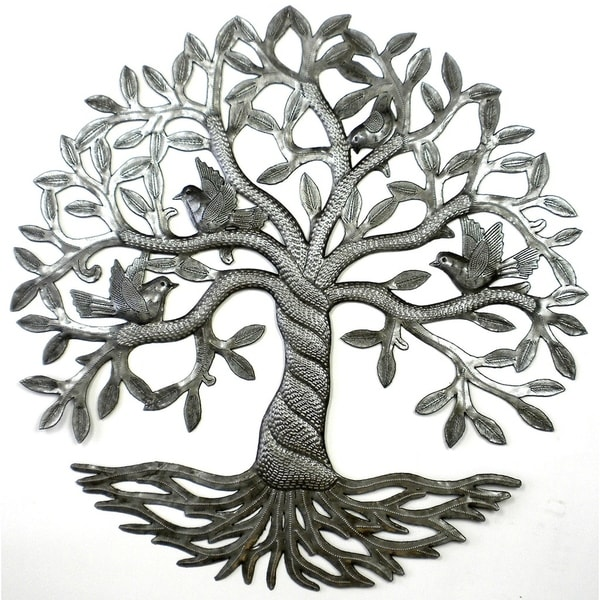 Shop Handmade Twisted Tree of Life Metal Wall Art (Haiti) - Free ...