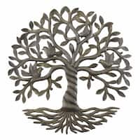 Handmade Twisted Tree of Life Metal Wall Art (Haiti)