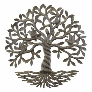 Handcrafted Twisted Tree of Life Metal Wall Art (Haiti)