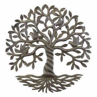 Handmade Twisted Tree of Life Metal Wall Art (Haiti)