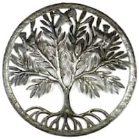 Handmade Tree of Life in Ring Wall Art (Haiti)