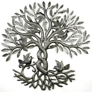 Handmade Entwined Tree of Life Metal Art (Haiti)