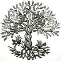 Handmade Entwined Tree of Life Metal Wall Art (Haiti)