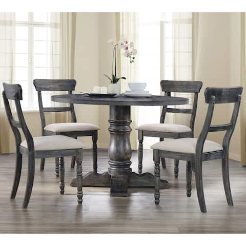 Best Master Furniture Weathered Grey 5-piece Dinette Set