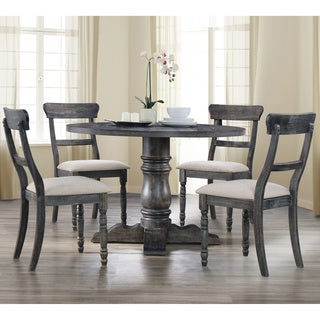 Best Master Furniture Weathered Grey 5 Pcs Dinette Set