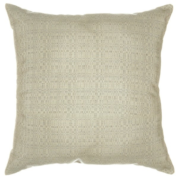 Sunbrella Throw Pillow   Linen Silver