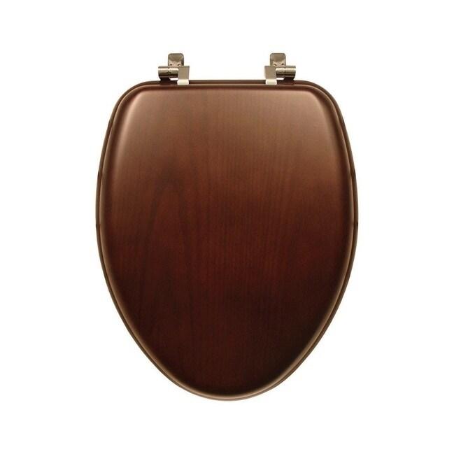 Cool Mayfair Wood Toilet Seat Elongated Walnut Customarchery Wood Chair Design Ideas Customarcherynet