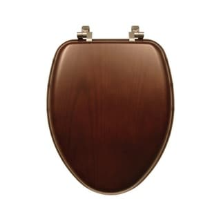 Mayfair  Wood  Toilet Seat  Elongated  Walnut