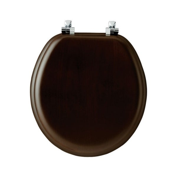 Shop Mayfair Wood Toilet Seat Round Walnut Free Shipping
