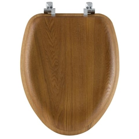 Bemis Mayfair Elongated Oak Wood Toilet Seat