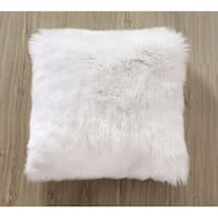 Super Soft Plush White Mongolian Faux Fur Throw Pillow Cover