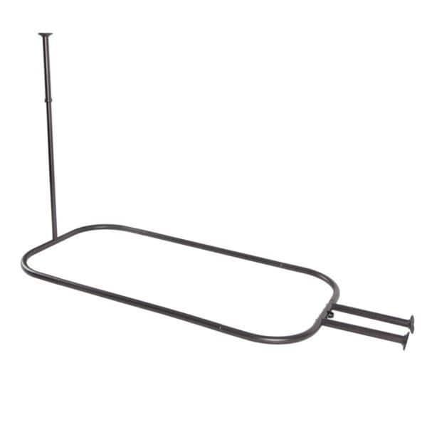Rustproof Hoop Shower Rod For Clawfoot Tub Free
