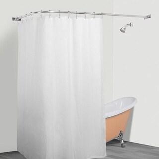 Rustproof L Shaped Corner Shower Curtain Rod