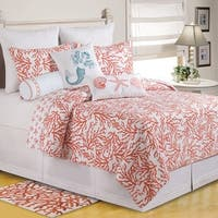 Cora Quilt (Shams Available Separately) - Coral