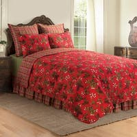 Kellyn Red Cotton Quilt (Shams Available Separately)